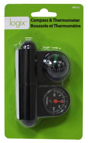 Logix Compass And Thermometer - image 1 of 1