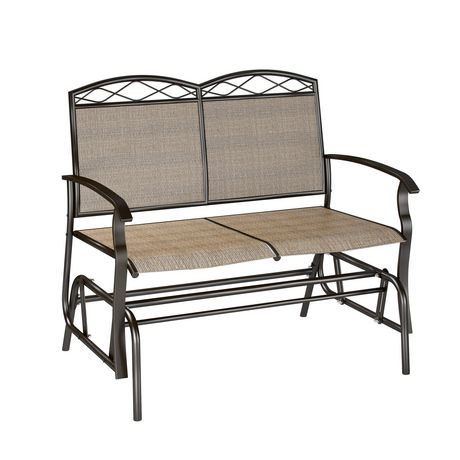 CorLiving Double Glider Speckled Brown Chair - image 2 of 3