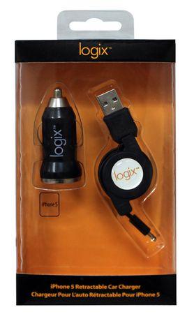 Chargeur Logix pour l'auto rétractable pour Iphone 5 - image 1 de 1