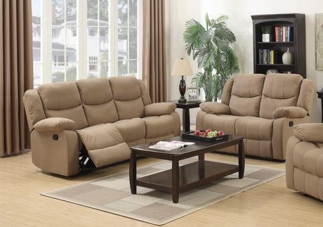 Topline Home Furnishings Mocha Reclining Sofa - image 1 of 1