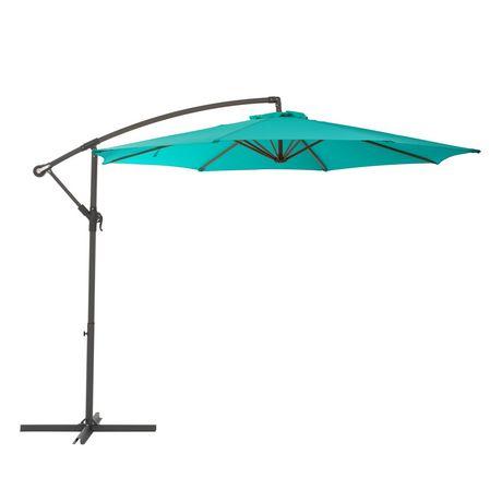Corliving Ppu 460 U 9 5 Ft Offset Patio Umbrella In