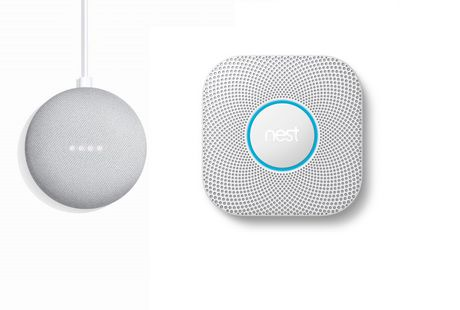 Google Nest Protect (battery) 2nd Generation, White + Google Home Mini Chalk - image 1 of 1