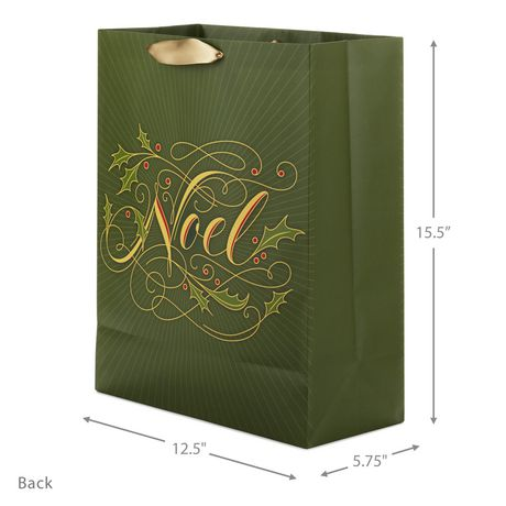 "Hallmark Image Arts 15.5"" Noel With Glitter & Metallic Foil X-Large Christmas Gift Bag - image 2 of 2"