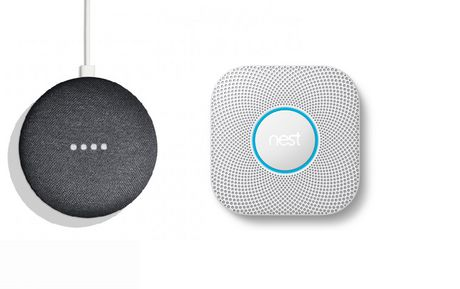 Nest Protect (Batterie) 2e génération, blanc + Google Home Mini Charcoal - image 1 de 1
