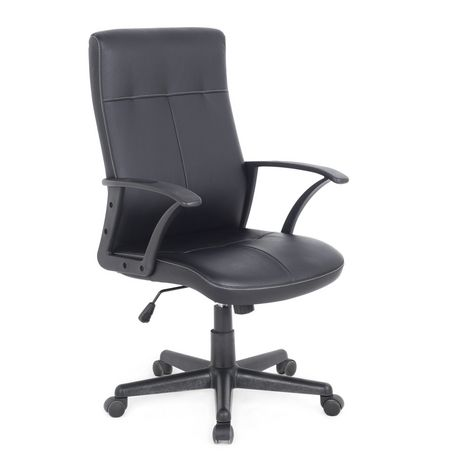 CorLiving WHL 102 C Black Leatherette Office Desk Chair