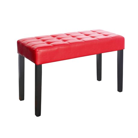 CorLiving California 24 Panel Tufted Leatherettte Bench - image 1 of 4