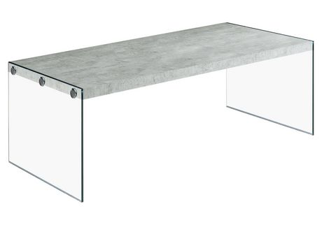Monarch Specialties Grey Cement Coffee Table Walmartca