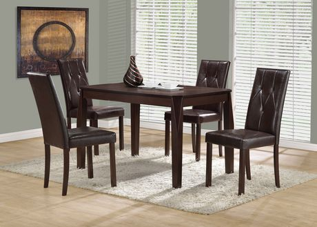 Monarch Specialities Dark Brown Leather Look Dining Chairs Walmart Canada