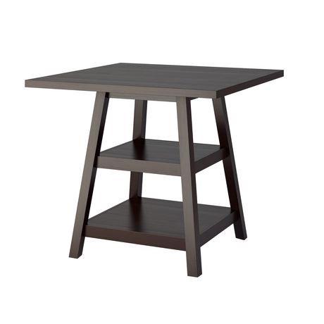 table de salle manger bistro corliving hauteur de comptoir avec tag res walmart canada. Black Bedroom Furniture Sets. Home Design Ideas