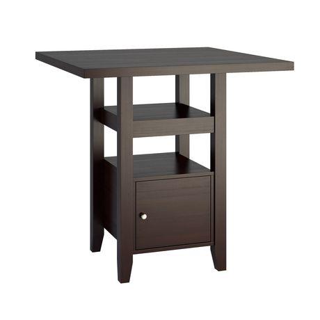 Table de salle manger bistro corliving hauteur de for Hauteur d une table de salle a manger