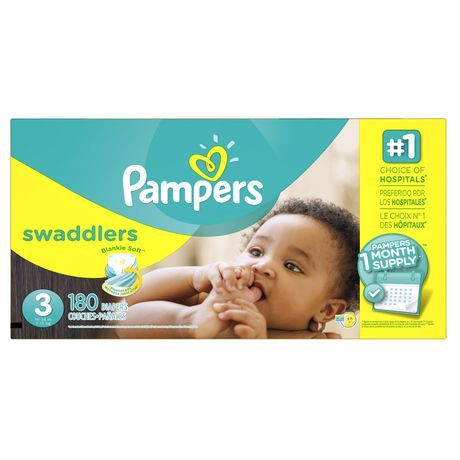 Couches pampers swaddlers provision de couches pour un mois - Couche pour piscine pampers ...