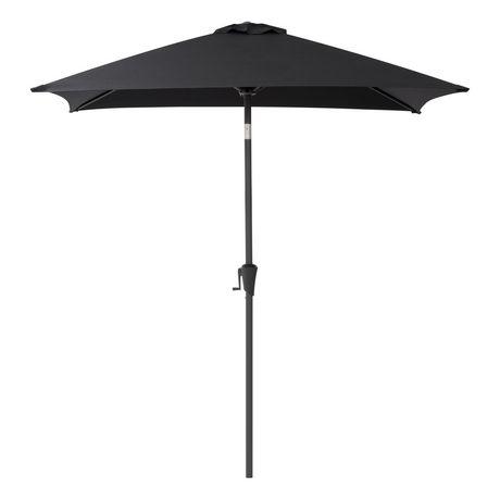 Corliving Ppu 300 U 6 5 Ft Square Patio Umbrella In Black