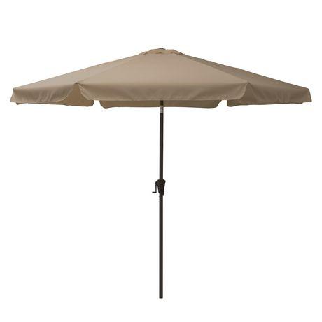 CorLiving PPU 220 U 10 Ft Tilting Patio Umbrella In Sandy Brown
