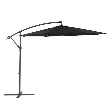 - CorLiving PPU-400-U 9.5 Ft Offset Patio Umbrella In Black Walmart.ca