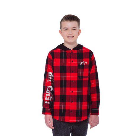 Boys Mini Pop Kids Level Up Here Plaid Shirt - image 4 of 7