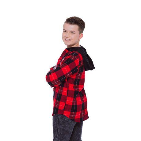 Boys Mini Pop Kids Level Up Here Plaid Shirt - image 3 of 7