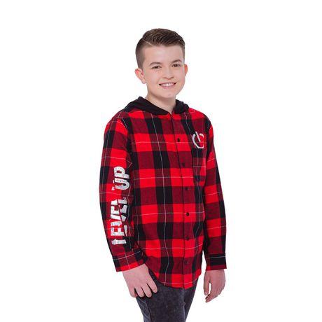 Boys Mini Pop Kids Level Up Here Plaid Shirt - image 2 of 7