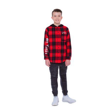 Boys Mini Pop Kids Level Up Here Plaid Shirt - image 1 of 7