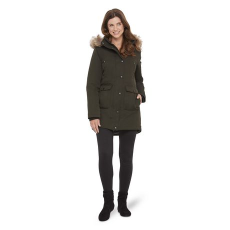 863d190e1ed73 Canadiana Women s Parka Jacket with Faux Fur Trim Hood - image 1 ...