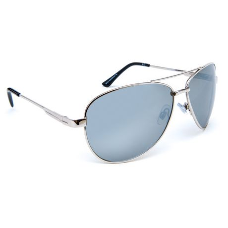 941cc5a344e George Men s Polarized Silver Aviator Sunglasses - image 1 ...