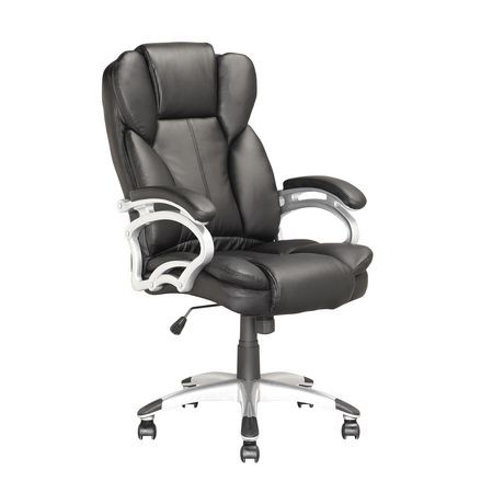wal mart office chair. corliving lof408o executive office chair in black leatherette walmart canada wal mart