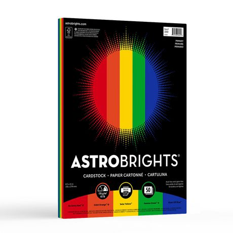 Astrobrights Coloured Cardstock Primary 5 Colour Cardstock