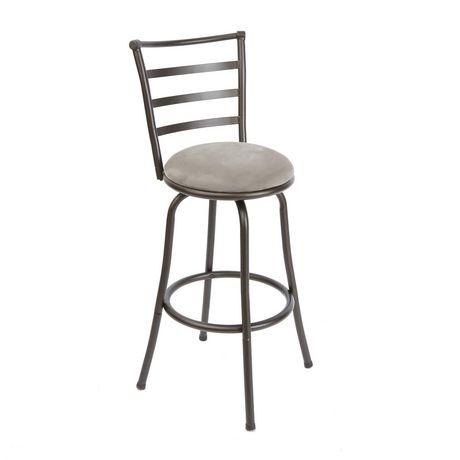 Set of 3 brown Avery Adjustable Metal Barstools