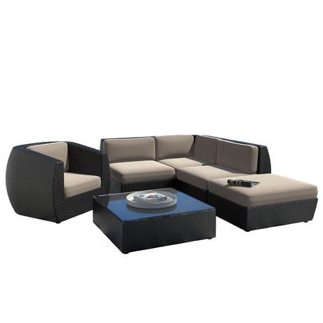 Corliving Pps 603 Z Seattle Curved Sectional With Chaise