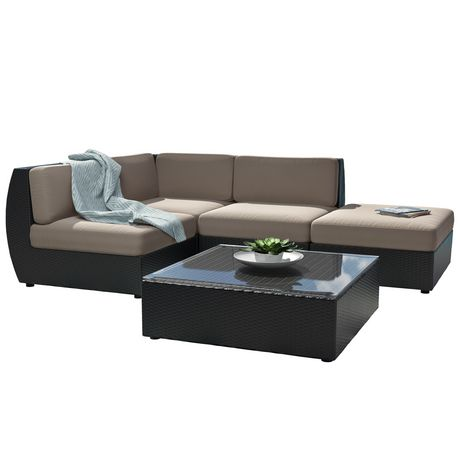 Corliving Pps 601 Z Seattle Curved Sectional With Chaise