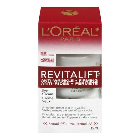 L'Oréal Paris Anti-Wrinkle+Firming Revitalift Eye Cream | Walmart.ca