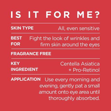 L'Oréal Paris Revitalift Anti-Wrinkle + Firming Anti-Aging  Eye Cream, with Pro-Retinol & Centella Asiatica, 15 mL - image 3 of 9