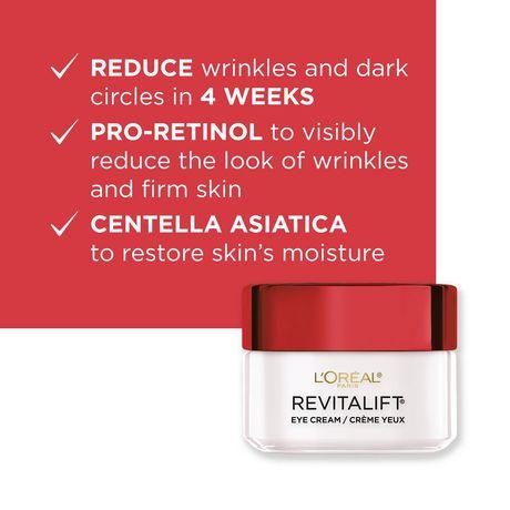 L'Oréal Paris Revitalift Anti-Wrinkle + Firming Anti-Aging  Eye Cream, with Pro-Retinol & Centella Asiatica, 15 mL - image 2 of 9