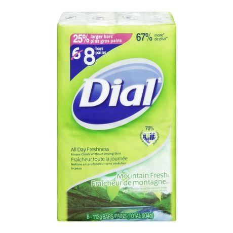 Dial Antibacterial Deodorant Soap Mountain Fresh 8 Bars