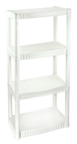Plano Molding 4 Tier White Free Standing Shelf