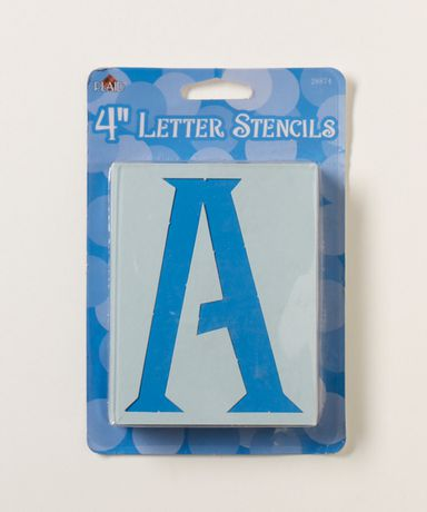 "4"" genie letter stencil | walmart canada"