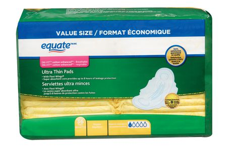 Equate Ultra Thin Regular Maxi Pads with Flexi-Wings - image 1 of 5