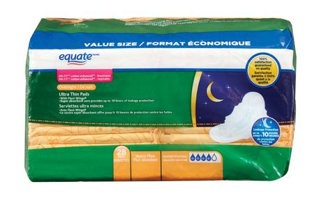 Equate Ultra Thin Overnight Maxi Pads with Flexi-Wings® - image 1 of 5