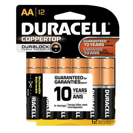 Duracell Coppertop AA Batteries, 12 Pack | Walmart Canada