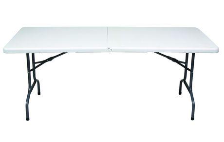 GSC 6 Ft White Centerfolding Table