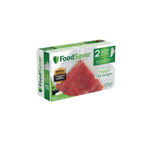 "FoodSaver® 8"" x 20' Vacuum Seal Roll, 2 Pack - image 1 of 6"