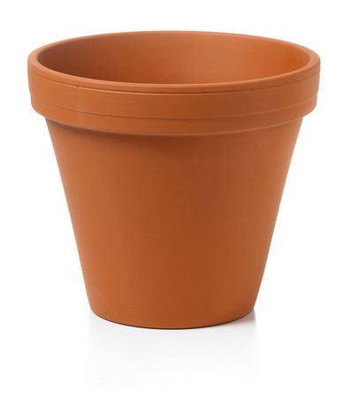 Hofland 6 inch terra cotta flower clay pot 08215000 for Small clay flower pots