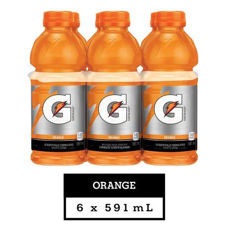 Gatorade Orange Sports Drink, 591mL Bottles, 6 Pack - image 1 of 6