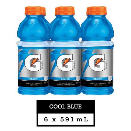 Gatorade Cool Blue Sports Drink, 591mL Bottles, 6 Pack - image 1 of 6