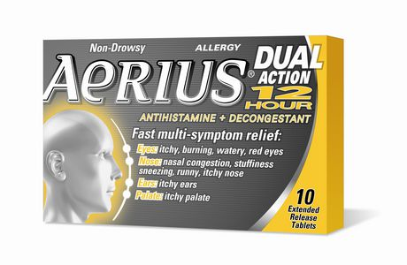 AERIUS® Dual Action 12-Hour - 10 tablets - image 1 of 2