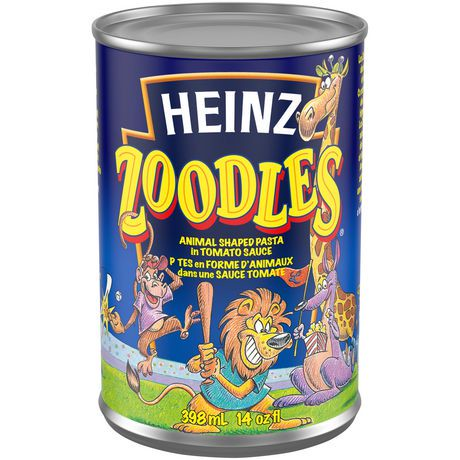 Heinz Zoodles Animal Shaped Pasta With Tomato Sauce