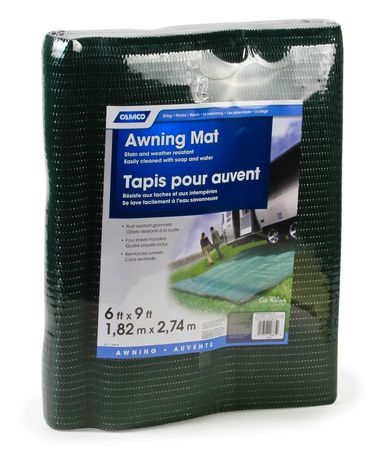 Camco 42885 - Green/reversible Awning Leisure Mat - 6' X 9' - image 1 of 1