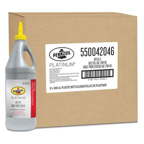 Pennzoil Platinum Sae 75w 90 Full Synthetic Axle Oil