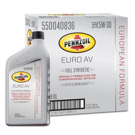 Pennzoil platinum euro av sae 5w 30 full synthetic motor for Pennzoil platinum full synthetic motor oil