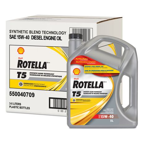 shell rotella t5 synthetic blend sae 15w 40 heavy duty diesel engine oil. Black Bedroom Furniture Sets. Home Design Ideas