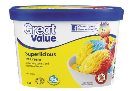 Great Value Superlicious Ice Cream - image 1 of 3